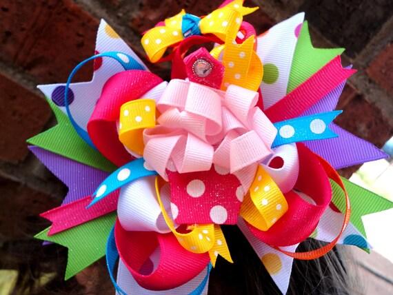 Pink Cupcake Hairbow