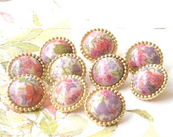 Antique buttons Bulk buttons Vintage buttons  Vintage floral buttons - lot of 50 - Knitting Buttons, Sewing Buttons
