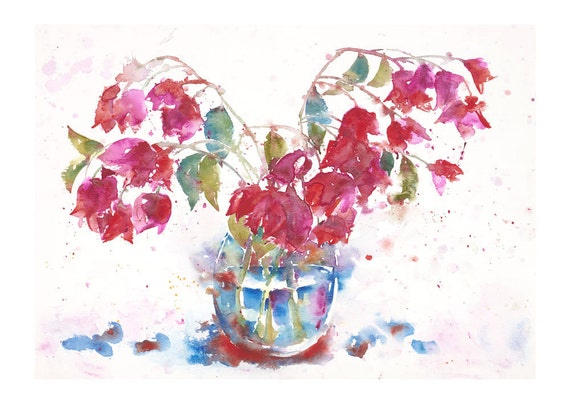 Bougainvillea - Watercolour Print