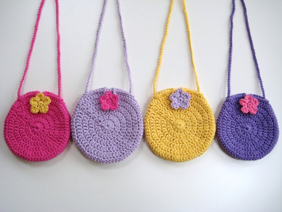 Crochet Pattern Round Circle purse bag INSTANT DOWNLOAD PDF, long ...