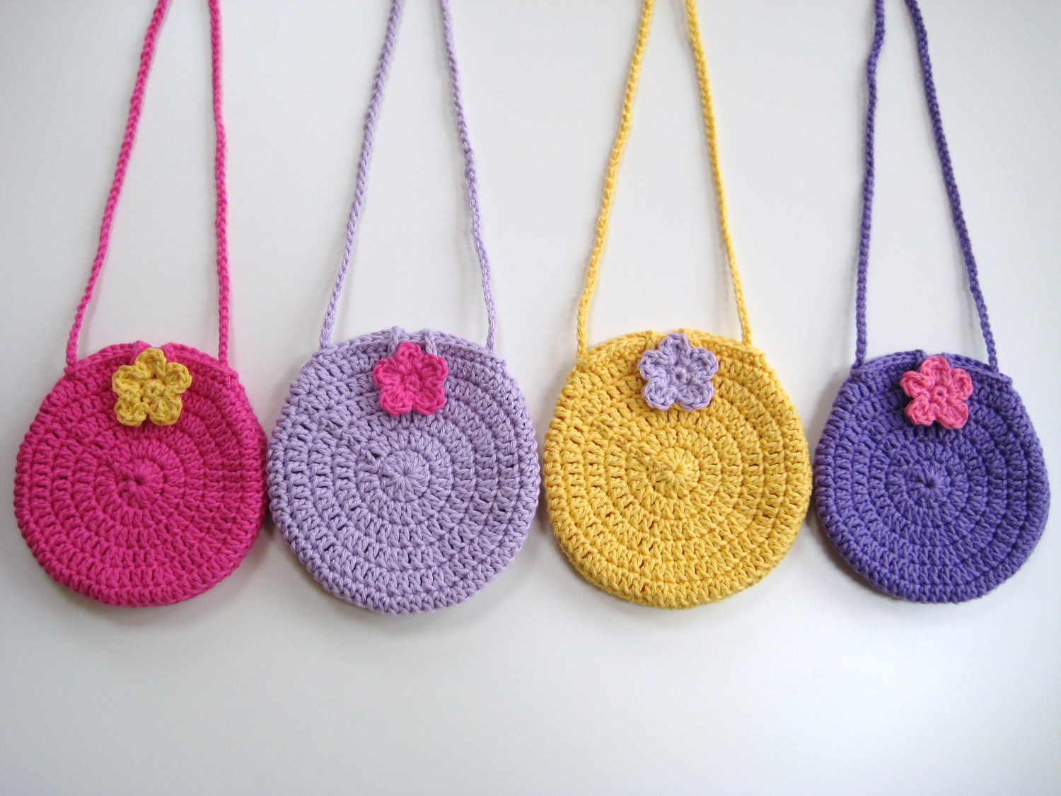 Crochet Pattern Round Circle purse bag INSTANT by avondalepatterns