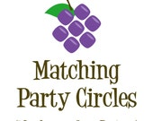 Matching Party Circles - Made to Match any Design in my Store - Personalized Birthday Party Circles - A Digital Printable File