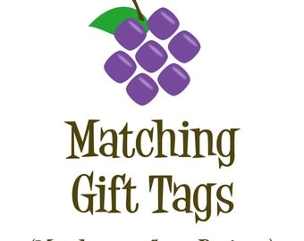 Matching Gift Tags - Made to Match any Design in my Store - Personalized Birthday Party Thank You Gift Tags - A Digital Printable File