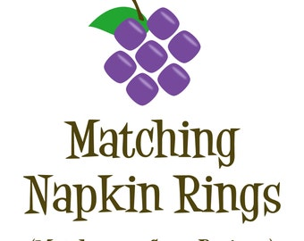 Matching Napkin Rings - Made to Match any Design in my Store - Personalized Birthday Party Favor Napkin Rings - A Digital Printable File