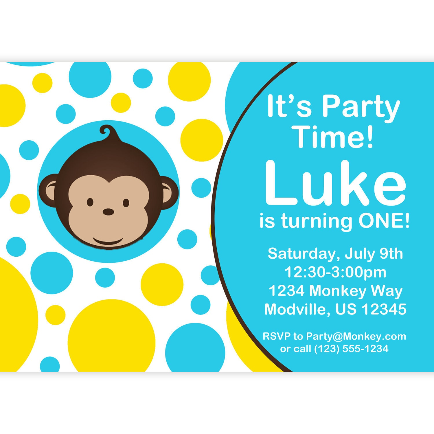 Monkey love party invitations - photo#4