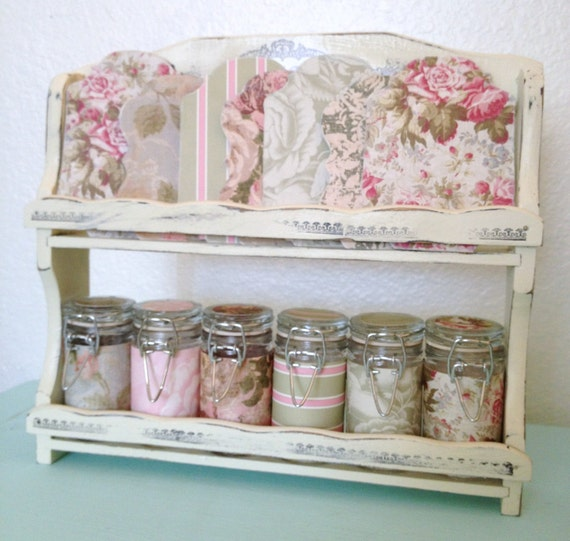 Shabby chic craft sewing room vintage storage caddy for Shabby chic craft room