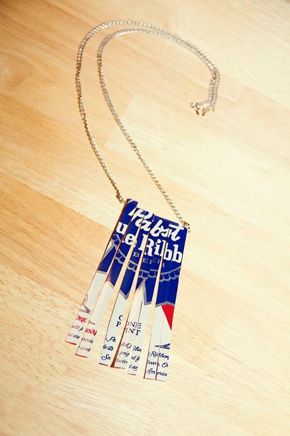PBR Can Fringe Necklace
