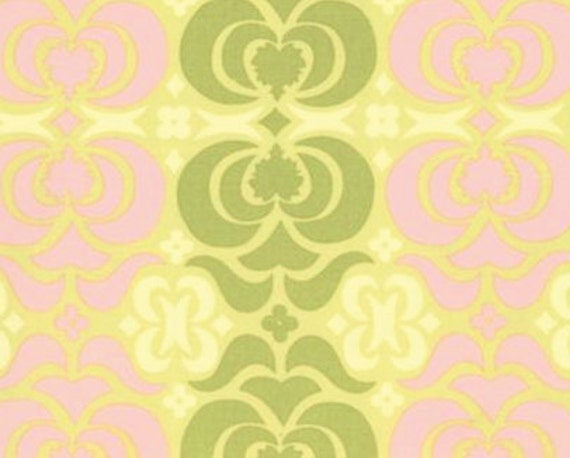 Amy Butler Fabric - Midwest Modern - Garden Maze, Sand: 38 inches wide by 38 inches long