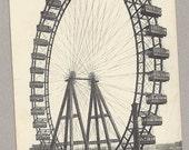 1921 Paris eye postcard  / 1921 french postcard  / Vintage postcard / France
