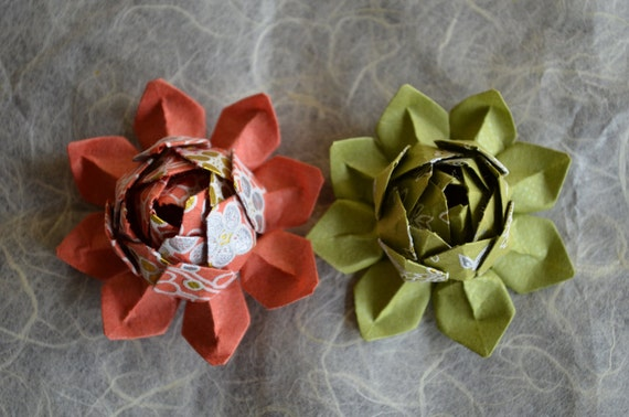 Origami Lotus Flower- Handmade with Japanese Washi Paper