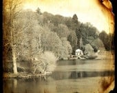 VINTAGE LAKE LANDSCAPE Fine Art Sepia Photography