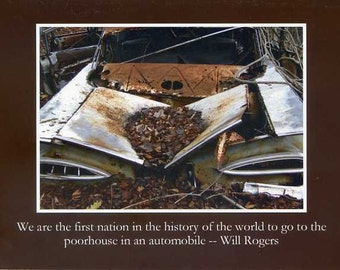 Will Rogers quote - photo card