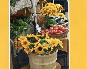 Boston Farmer's Market - photo card