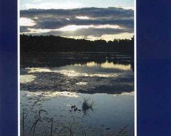 Island pond  - photo card