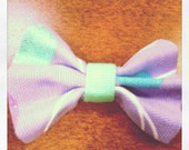 Purple glittery bow hair clip READY TO SHIP