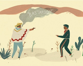 Mexican stand off giclee print