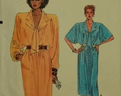 1980s Blouson Bodice Dress Vogue Pattern 9206  Sizes  14-16-18  Bust 36-38-40""