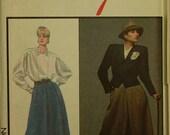 "Designer Alfred Sung Skirt, Jacket & Blouse Style Pattern 4891 Uncut  Size 12  Bust  34"""