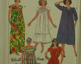 Dress, loose fitting -1980's- Simplicity Pattern 7493 Size 6 to 8 Uncut