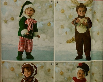 Holiday Costume Collection Simplicity Pattern 3916 Uncut Sizes Childs 1/2 to 4