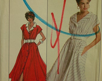 "1980s Designer Cathy Hardwick Dress Simplicity Pattern  8135 Uncut  Size 10  Bust 32.5"""