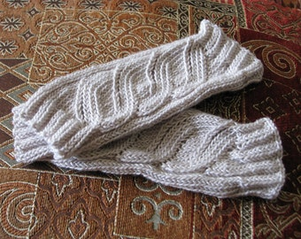 FREE SHIPPING Hand knitted wristers