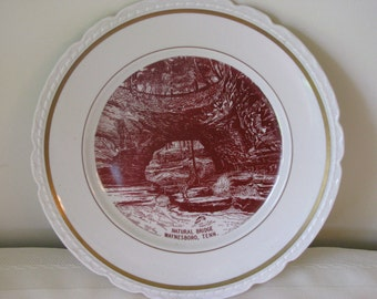Commemorative Plate of Natural Bridge, Waynesboro, Tenn.