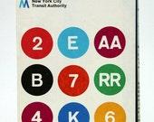 Vintage Original New York Subway Guide Map MTA NYC City Transit Rare Lines 1974