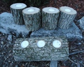 5 Rustic Oak candle holders sticks for votive candles, weddings, cabins, decoration, decor, natural tree branch,