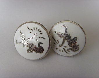 Sale - 20% off. Antique sterling silver earrings from Siam. Now 20 euro instead of 25