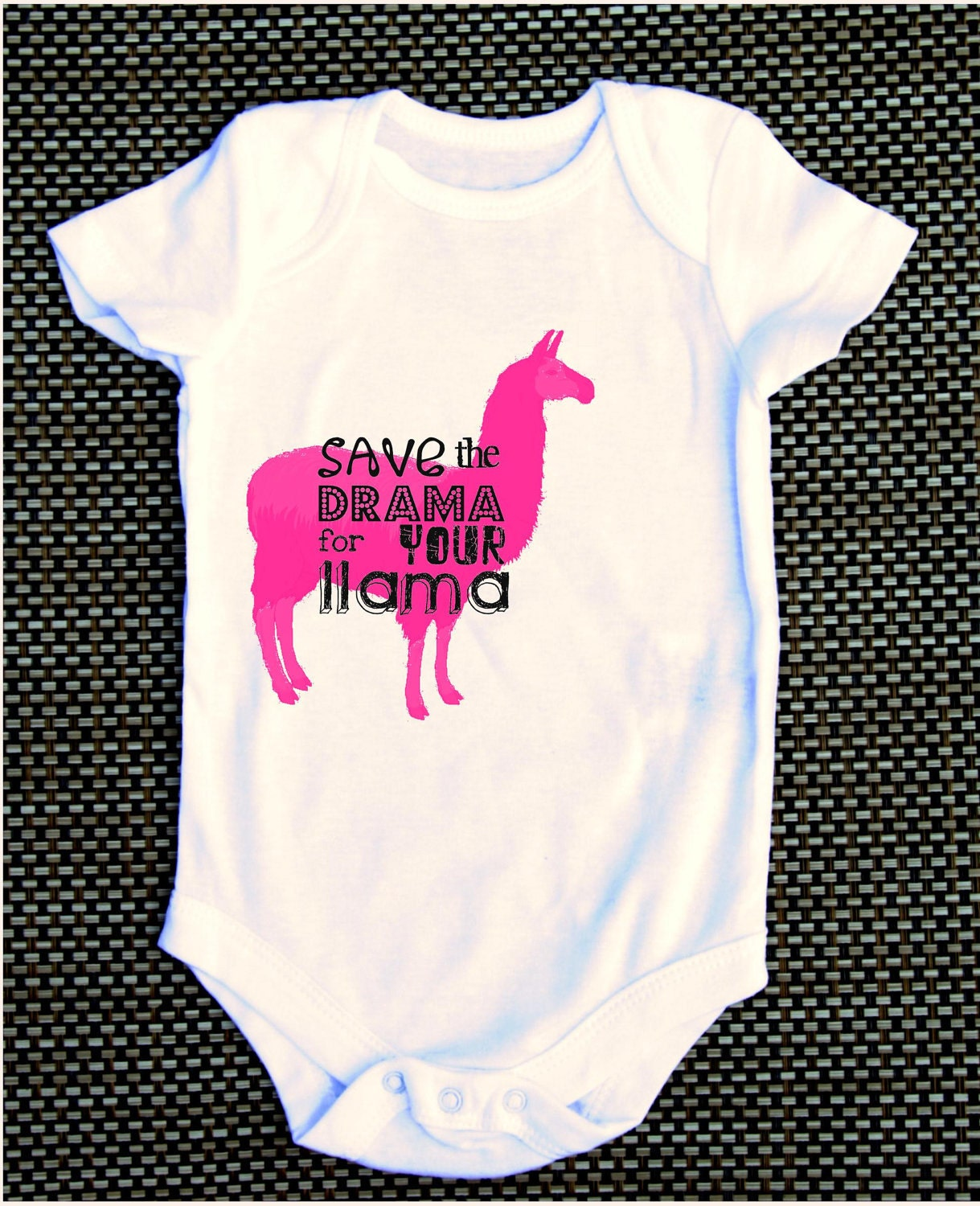 Save The Drama For Your Llama Funny Baby Onesie