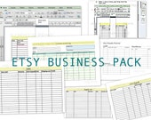 Etsy Business Starter Pack - Cost Of Goods Track Revenue and Profit and Material Cost Excel Printable Organizer