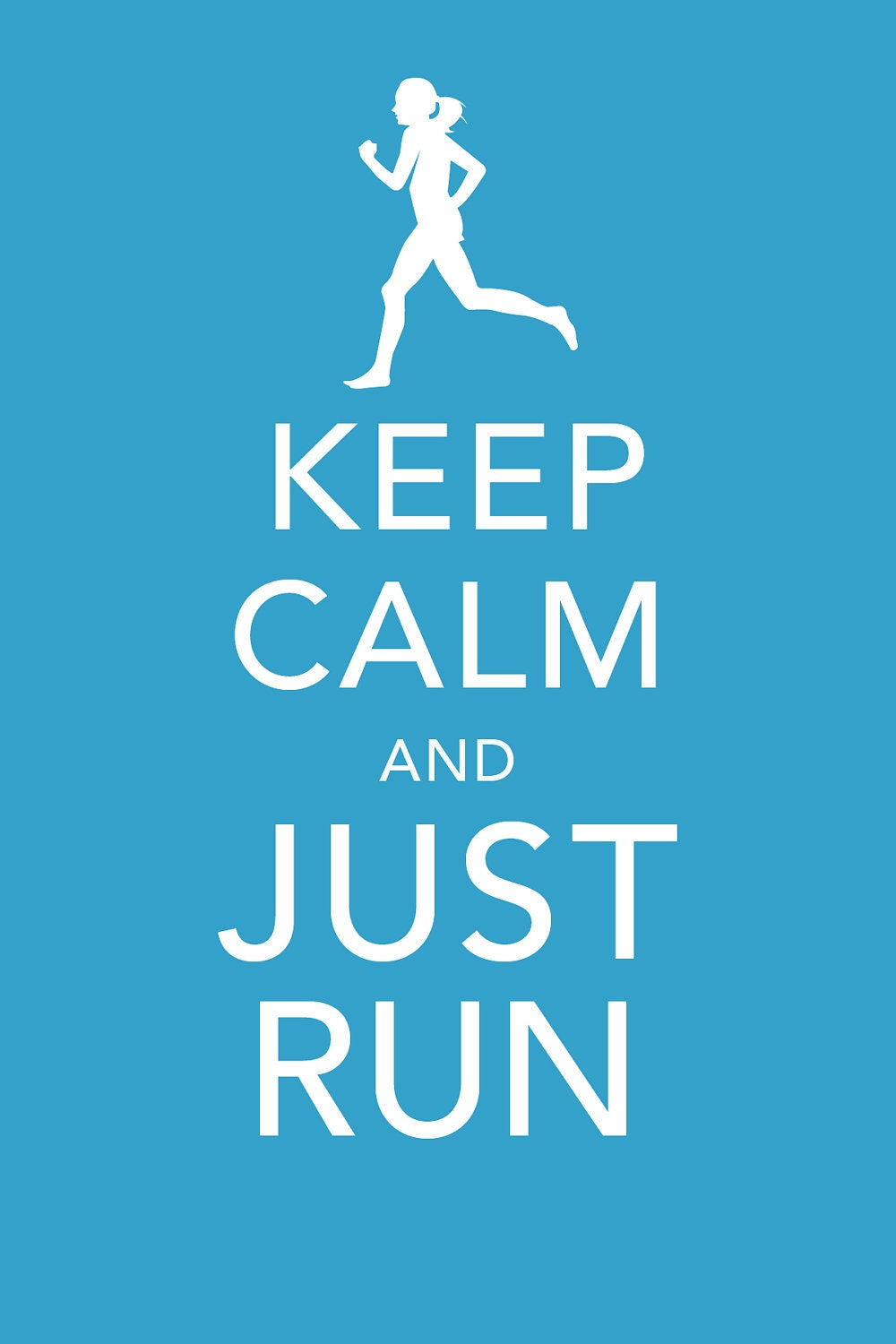 Reserved For Courtney Keep Calm Just Run 4x6 Print By Starlete