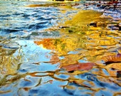 Autumn Foliage Streaming Reflections