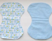 Baby Boy Burp Cloth- Set of Two- Contour Shaped