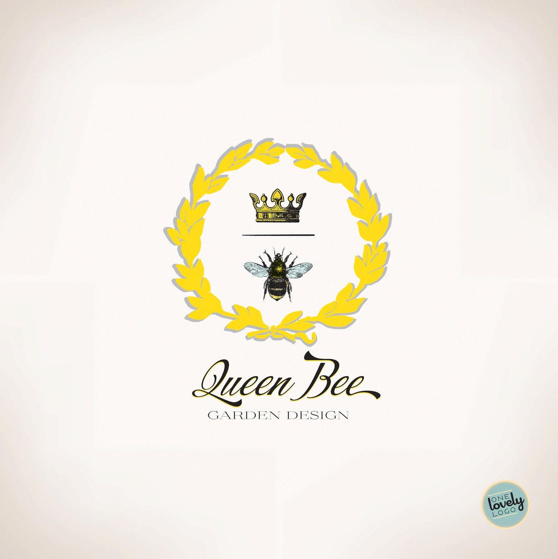 Premade Vector Logo Queen Bee OOAK by OneLovelyLogo on Etsy