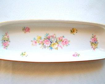 Alka Kunst Alboth & Kaiser Trinket Dish Pin Tray Bavarian Porcelain Romantica Pattern Antique Shabby