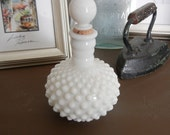 Milk Glass Bottle with Cork Top