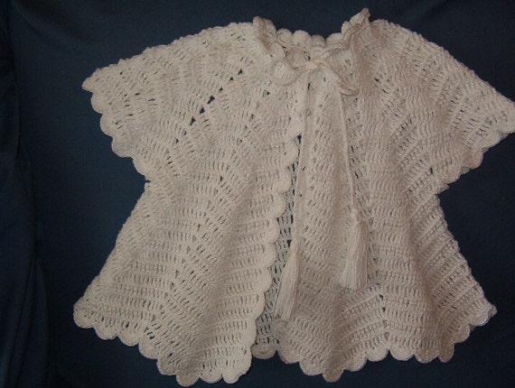1925 design Crocheted Ripple Sweater
