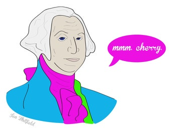 George Washington Cherry Print
