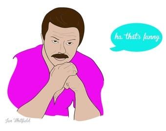 Burt Reynolds Funny Print