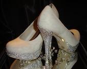 Diamond platforms and heels .UK Size 8 .