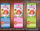 "STRAWBERRY SHORTCAKE Invitation - Printable birthday ticket card (2.5""x7"") - Set 02"