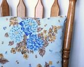 Handmade Blue Floral Vintage Cushion