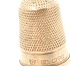 Very Collectable CHARLES HORNER Silver Thimble 1909 Inventor of Dorcas Thimbles