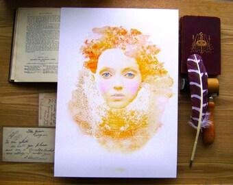 Queenie Watercolour Print