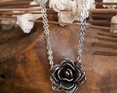 "Spoon Necklace: ""Rose Flower"" by Silver Spoon Jewelry"