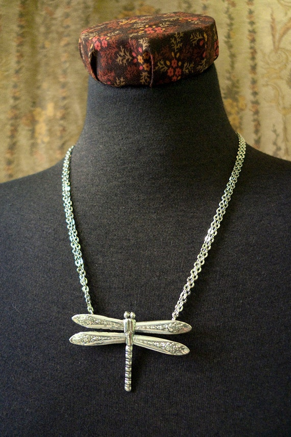 Spoon Necklace: Dragonfly by Silver Spoon Jewelry