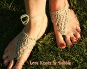 Crochet  Flip Flops silver in a Pineappple pattern and ankle straps elegent and comfortable