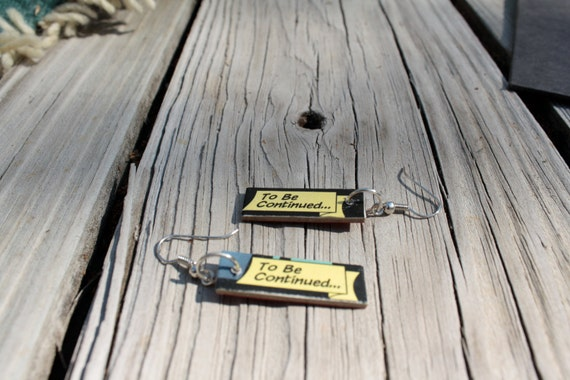 Comic Earrings - To be continued